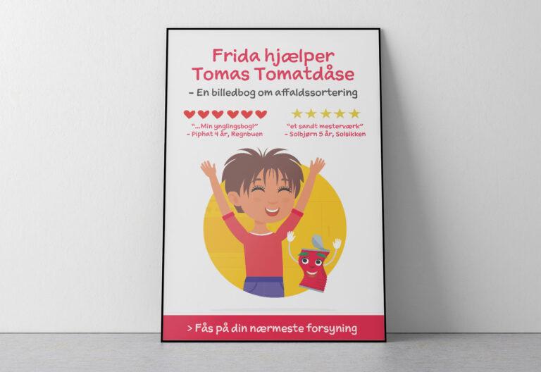 Frida Hjælper Tomas Tomatdåse plakat