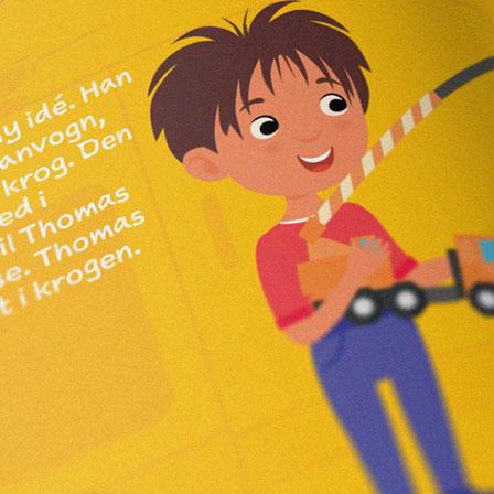 Illustration af dreng